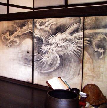 Drache und Wellen, Ryogen-in, Kyoto