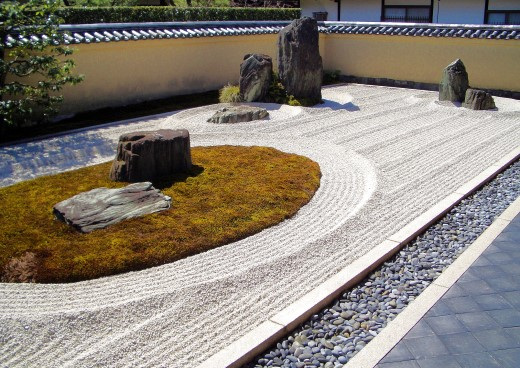 Zen Garten im Ryogen-in Tempel in Kyoto/Japan
