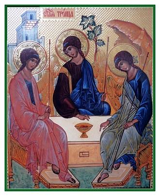 Ikone der Heiligen Dreifaltigkeit des Andrej Rublew