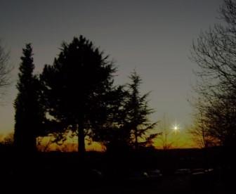 Merkur Mitte bis Ende Januar in der Abenddämmerung (SW)