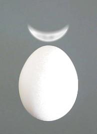 Mondsichel auf kosmischem Ei
