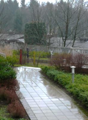 Regen auf dem Steinweg