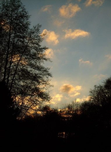 Rosa Abendwolken