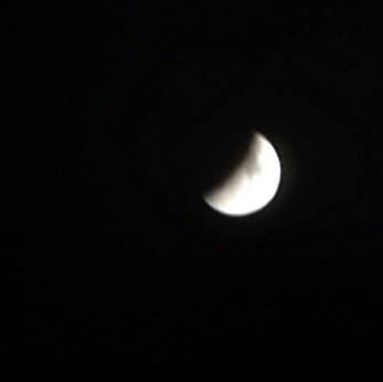 Weiter fortgeschrittene Mondfinsternis