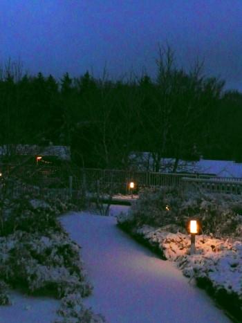 Über Nacht fiel Schnee!