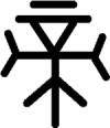 """Chinesisches Schriftzeichen für """"Di"""""""