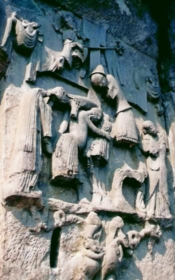 Kreuzabnahme-Relief am Fuß der Externsteine!