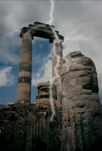 Säulen, in welche der Blitz schlägt!