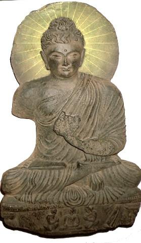 """Buddha mit """"Heiligenschein""""!"""