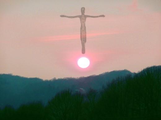 Christus über der Abendsonne!