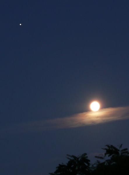 Mond mit Jupiter am Morgen des 20.06.08!