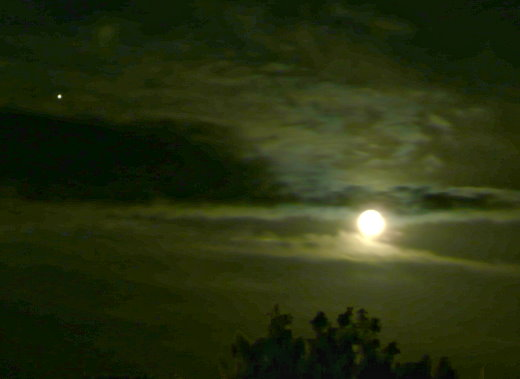 Mond mit Jupiter am 17.07.08 kurz nach Mitternacht!