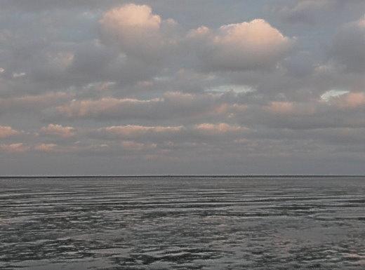 Nordfriesisches Watten-Meer mit rosa Wolken!