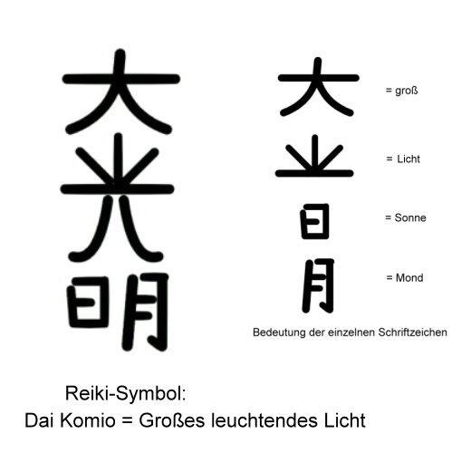 Reiki-Symbol Dai Komio!