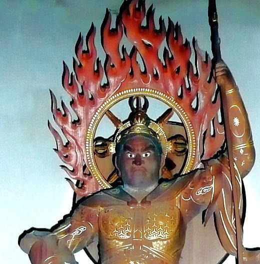 Zornvolle Erscheinungsform des Buddha DAINICHI NYORAI (Vairocana bzw. der Sonnengleiche)
