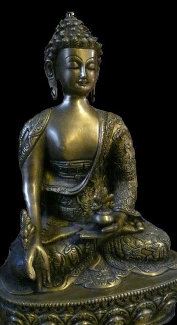 Der Medizin-Buddha; er heilt durch Segnen!