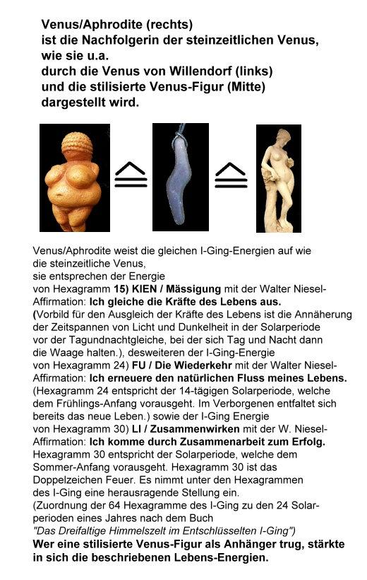 Wer eine Venus-Figur als Anhänger trug, stärkte seine Lebens-Energien!