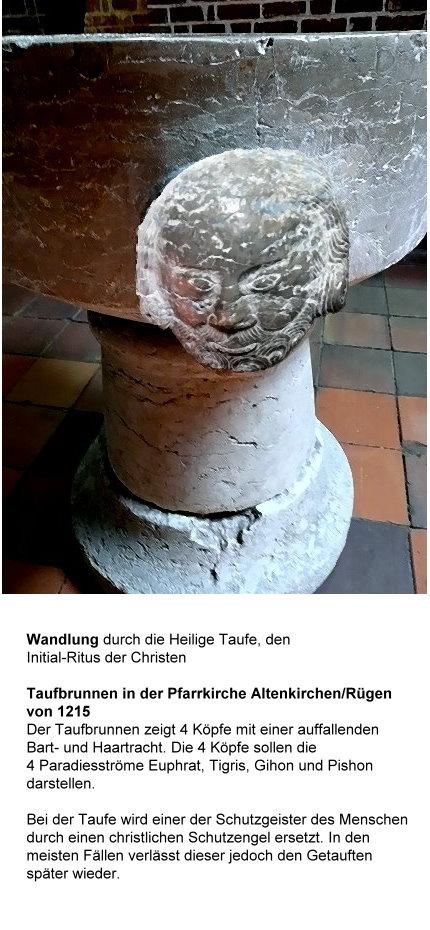 Taufbrunnen aus dem 13. Jahrh. Altenkirchen/Rügen