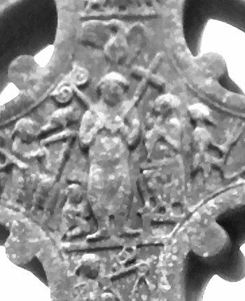 Christus mit Kreuz und Lebensbaum
