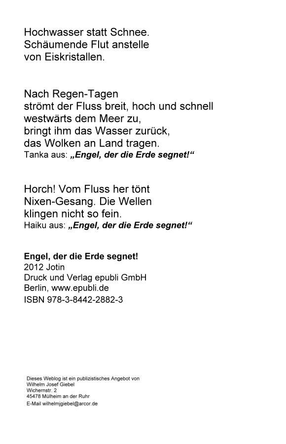 Haiku und Tanka aus Engel, der die Erde segnet, www.epubli.de