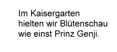 Herabk. Haiku Im Kaisergarten...