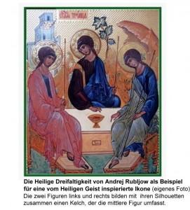 Beispiel für eine Ikone, deren Entstehung vom Heiligen Geist inspiriert wurde
