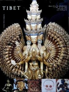 000-armiger Avalokiteshvara Plakat Tibet-Ausstellung Villa Hügel 2006