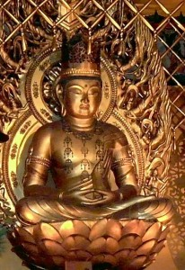 Der Buddha Vairocana bzw. Dainichi Nyorai in jap., Kyoto (eig. Foto)